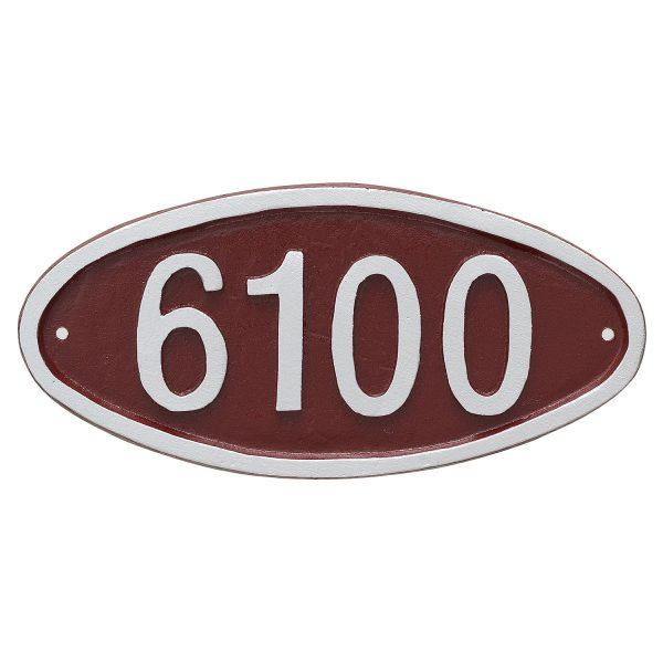 Wilshire Oval Petite Address Sign Plaque