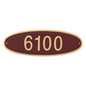 Wilshire Oval Standard Address Sign Plaque