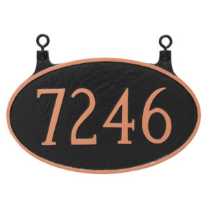 Double Sided Hanging Classic Oval Standard Address Sign Plaque