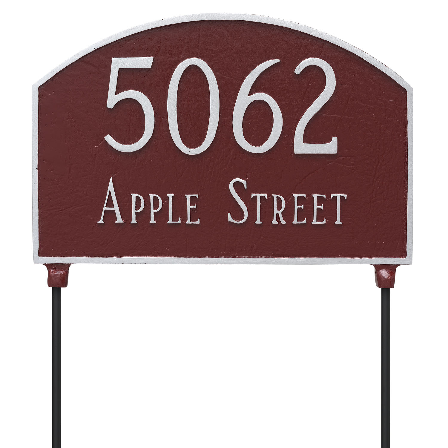 Double Sided Lawn Prestige Arch Two Line Address Sign Plaque With Stakes Montague Metal Products