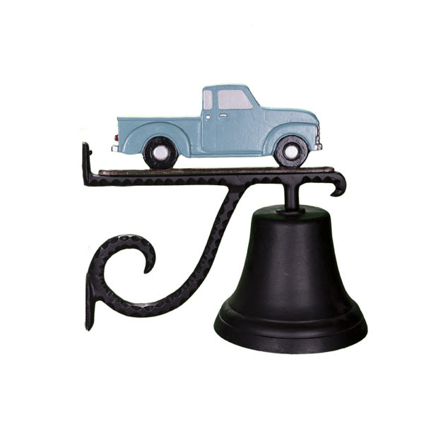 """7.75"""" Diameter Cast Bell with Classic Truck Ornament"""