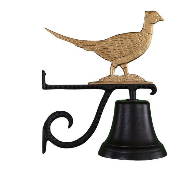 """7.75"""" Diameter Cast Bell with Pheasant Ornament"""