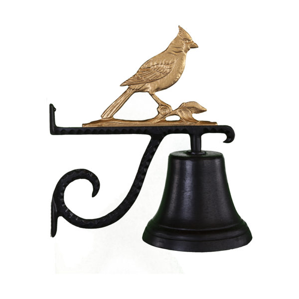 "7.75"" Diameter Cast Bell with Cardinal Ornament"
