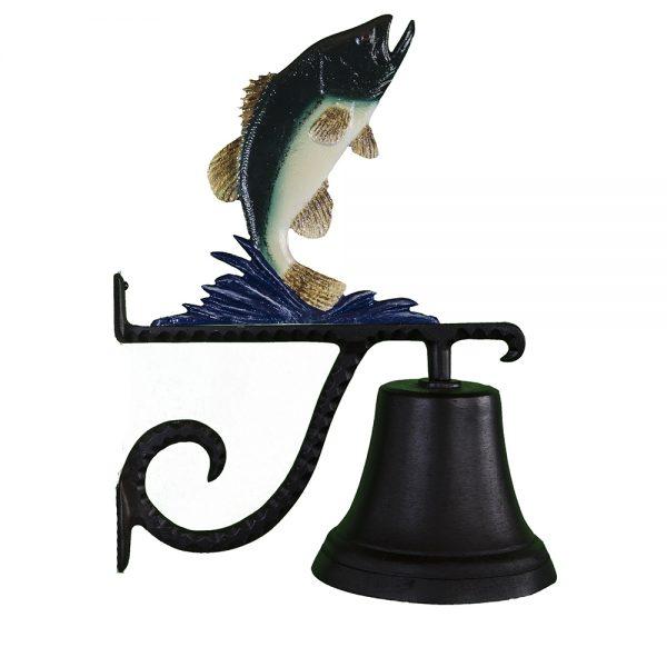"7.75"" Diameter Cast Bell with Bass Ornament"