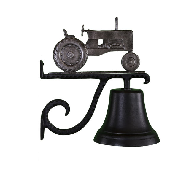 """7.75"""" Diameter Cast Bell with Tractor Ornament"""