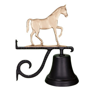"7.75"" Diameter Cast Bell with Gaited Horse"