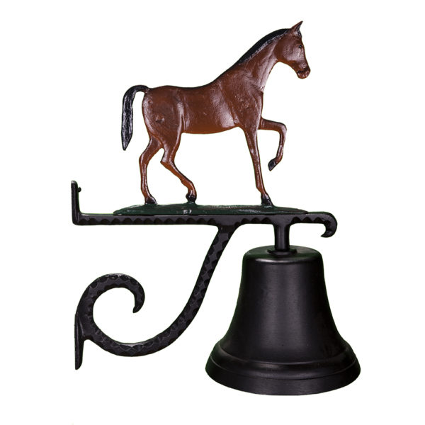 """7.75"""" Diameter Cast Bell with Gaited Horse"""