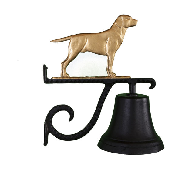 "7.75"" Diameter Cast Bell with Lab Ornament"