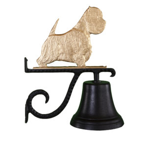 "7.75"" Diameter Cast Bell with West Highland Terrier"