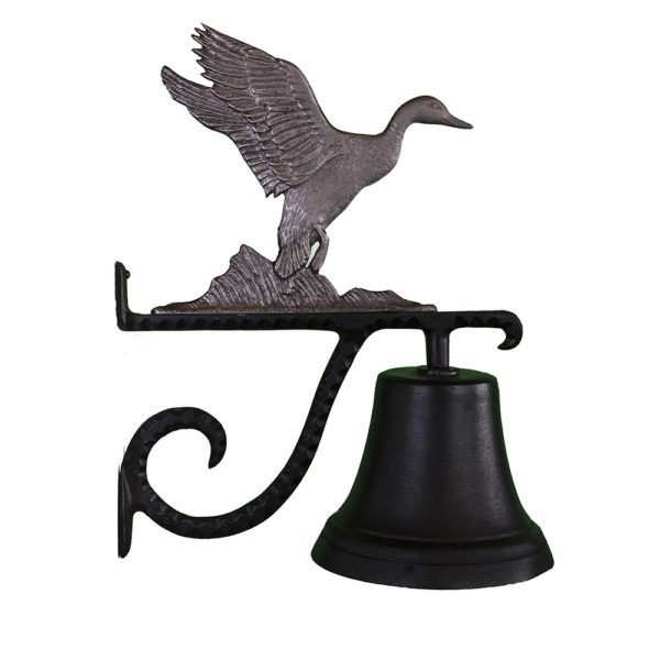 """7.75"""" Diameter Cast Bell with Duck Ornament"""