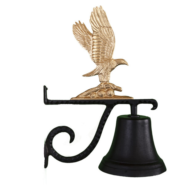 """7.75"""" Diameter Cast Bell with Eagle Ornament"""