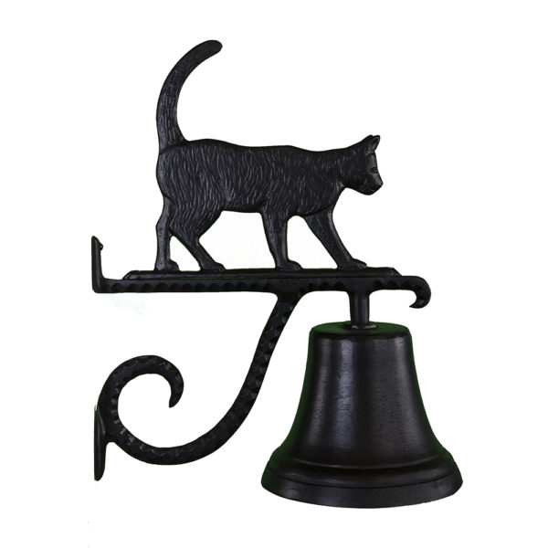 """7.75"""" Diameter Cast Bell with Cat Ornament"""