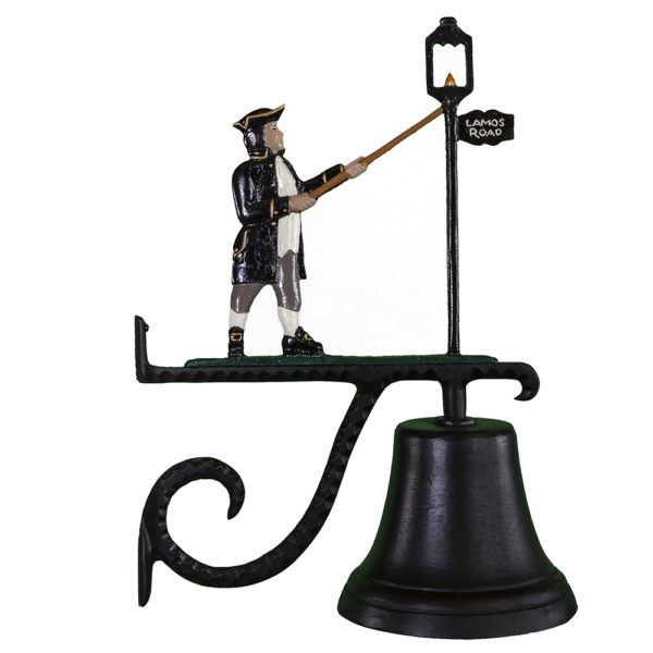 """7.75"""" Diameter Cast Bell with Lamplighter Ornament"""