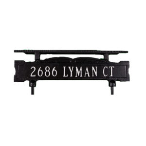 "3.25"" x 14.75"" One Line Cast Aluminum Lawn Sign with Ornament Bar"