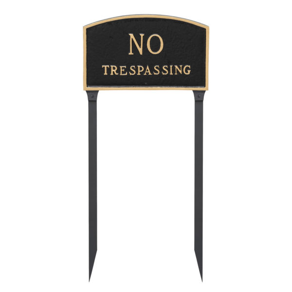 """13"""" x 21"""" Large Arch No Statement Plaque Sign with 23"""" lawn stake"""