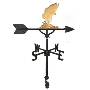 "32"" Aluminum Bass Weathervane"