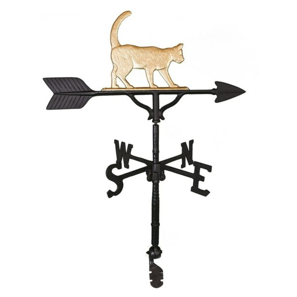 "32"" Aluminum Cat Weathervane"