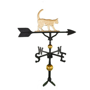 "32"" Aluminum Deluxe Cat Weathervane"