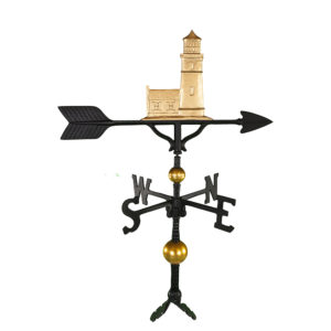 "32"" Aluminum Deluxe Cottage Lighthouse Weathervane"