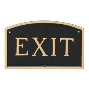 "10"" x 15"" Standard Arch Exit Statement Plaque Sign"