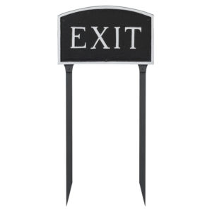 "10"" x 15"" Standard Arch Exit Statement Plaque Sign with 23"" lawn stake"