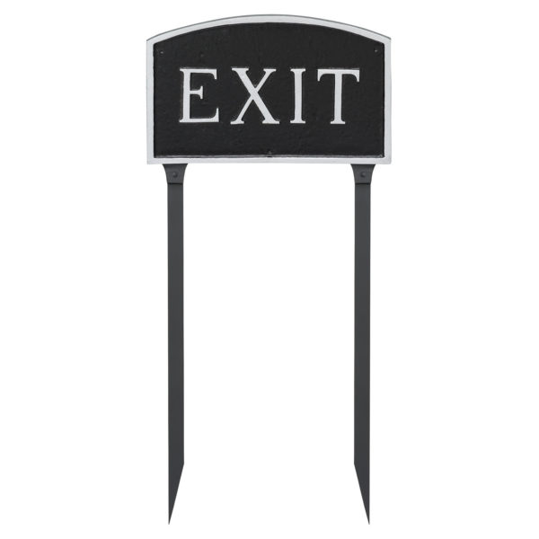 """10"""" x 15"""" Standard Arch Exit Statement Plaque Sign with 23"""" lawn stake"""