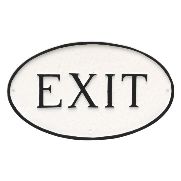 """8.5"""" x 13"""" Standard Oval Exit Statement Plaque Sign"""