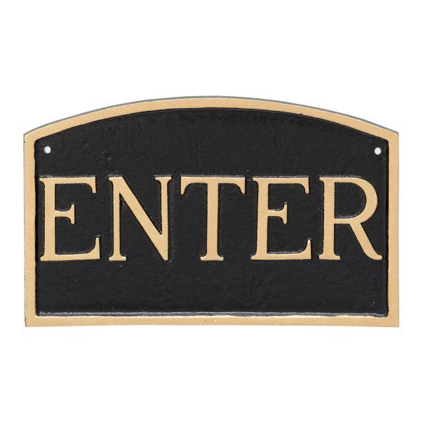 "10"" x 15"" Standard Arch Enter Statement Plaque Sign"