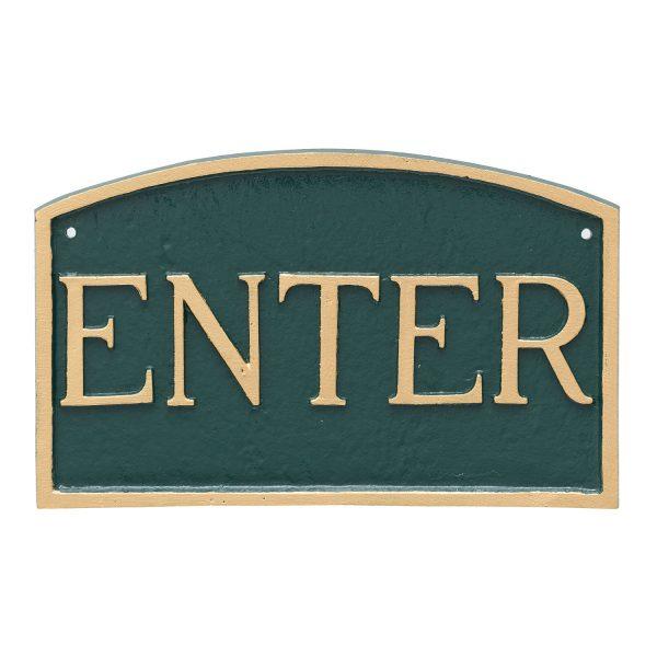 "5.5"" x 9"" Small Arch EnterStatement Plaque Sign"