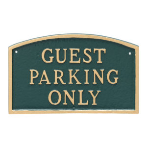 """13"""" x 21"""" Large Arch Guest Parking Only Statement Plaque Sign"""
