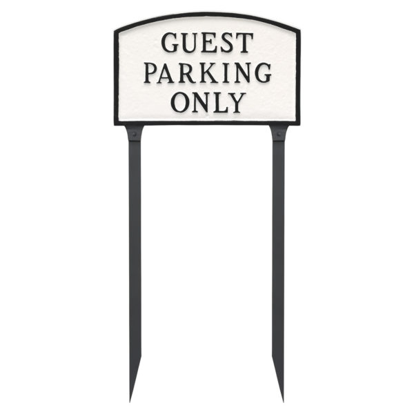 """10"""" x 15"""" Standard Arch Guest Parking Only Statement Plaque Sign with 23"""" lawn stake"""