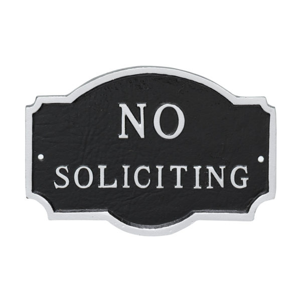 "4.5"" x 7.15"" No Soliciting Statement Plaque Sign"