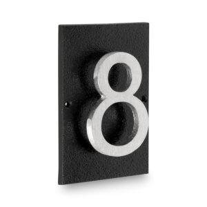 "Floating Modern 4"" Number Horizontal Address Plaque (1 digit)"