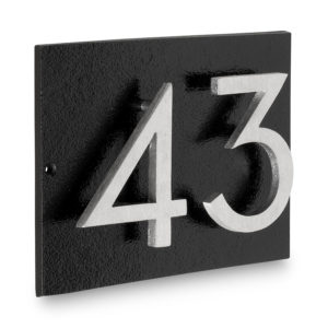 "Floating Modern 3"" Number Horizontal Address Plaque (2 digits)"