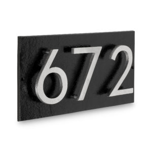 "Floating Modern 3"" Number Horizontal Address Plaque (3 digits)"