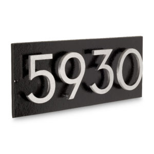 "Floating Modern 4"" Number Horizontal Address Plaque (4 digits)"