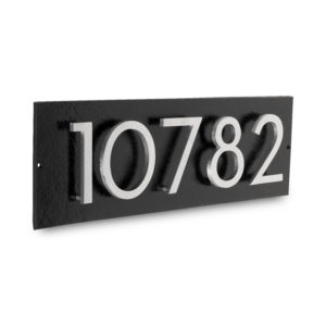 "Floating Modern 3"" Number Horizontal Address Plaque (5 digits)"