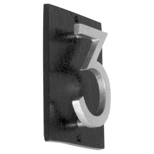 "Floating Modern 3"" Number Vertical Address Plaque (1 digit)"