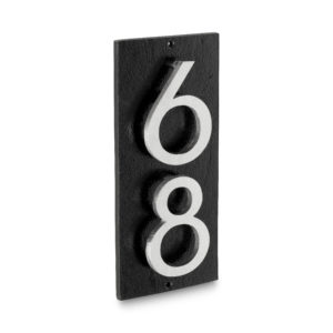 "Floating Modern 3"" Number Vertical Address Plaque (2 digits)"
