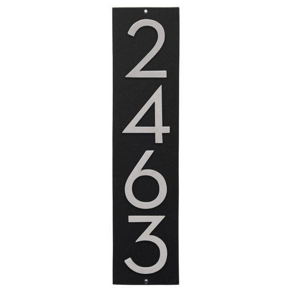 "Floating Modern 4"" Number Vertical Address Plaque (4 digits)"