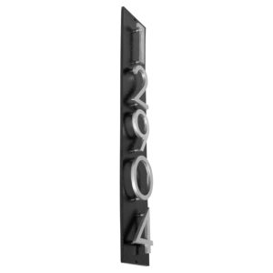 "Floating Modern 3"" Number Vertical Address Plaque (5 digits)"