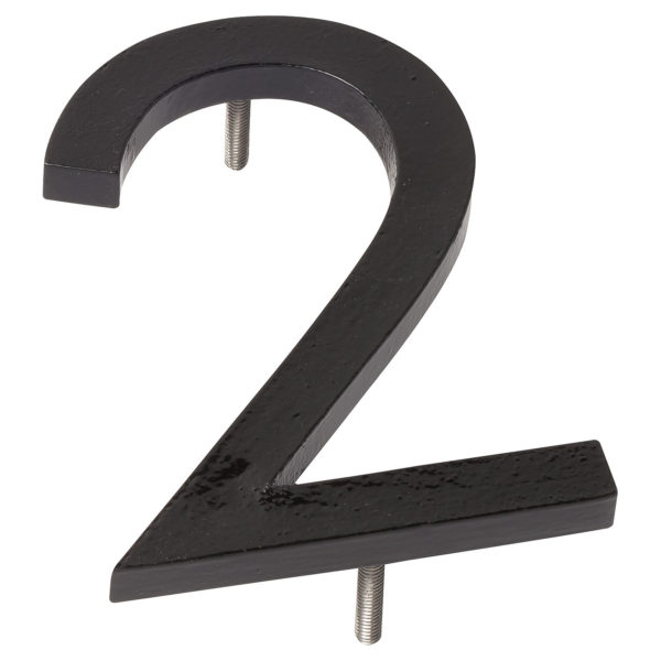 "16"" Black Aluminum floating or flat Modern House Numbers 0-9"