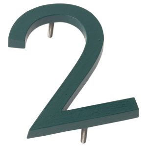 "10"" Hunter Green Aluminum floating or flat Modern House Numbers 0-9"