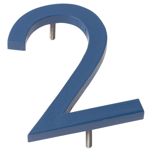 "16"" Sea Blue Aluminum floating or flat Modern House Numbers 0-9"