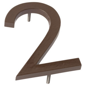 "12"" Sand Aluminum floating or flat Modern House Numbers 0-9"