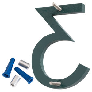 "12"" Hunter Green Aluminum floating or flat Modern House Numbers 0-9"