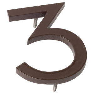 "10"" Roman Bronze Aluminum floating or flat Modern House Numbers 0-9"