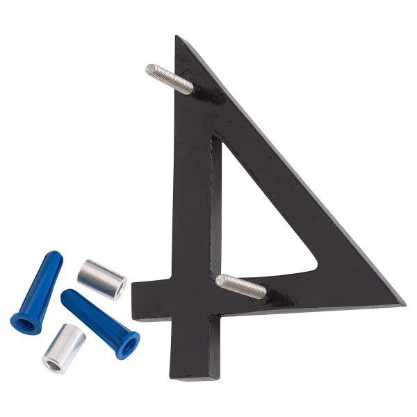 "8"" Black Aluminum floating or flat Modern House Numbers 0-9"