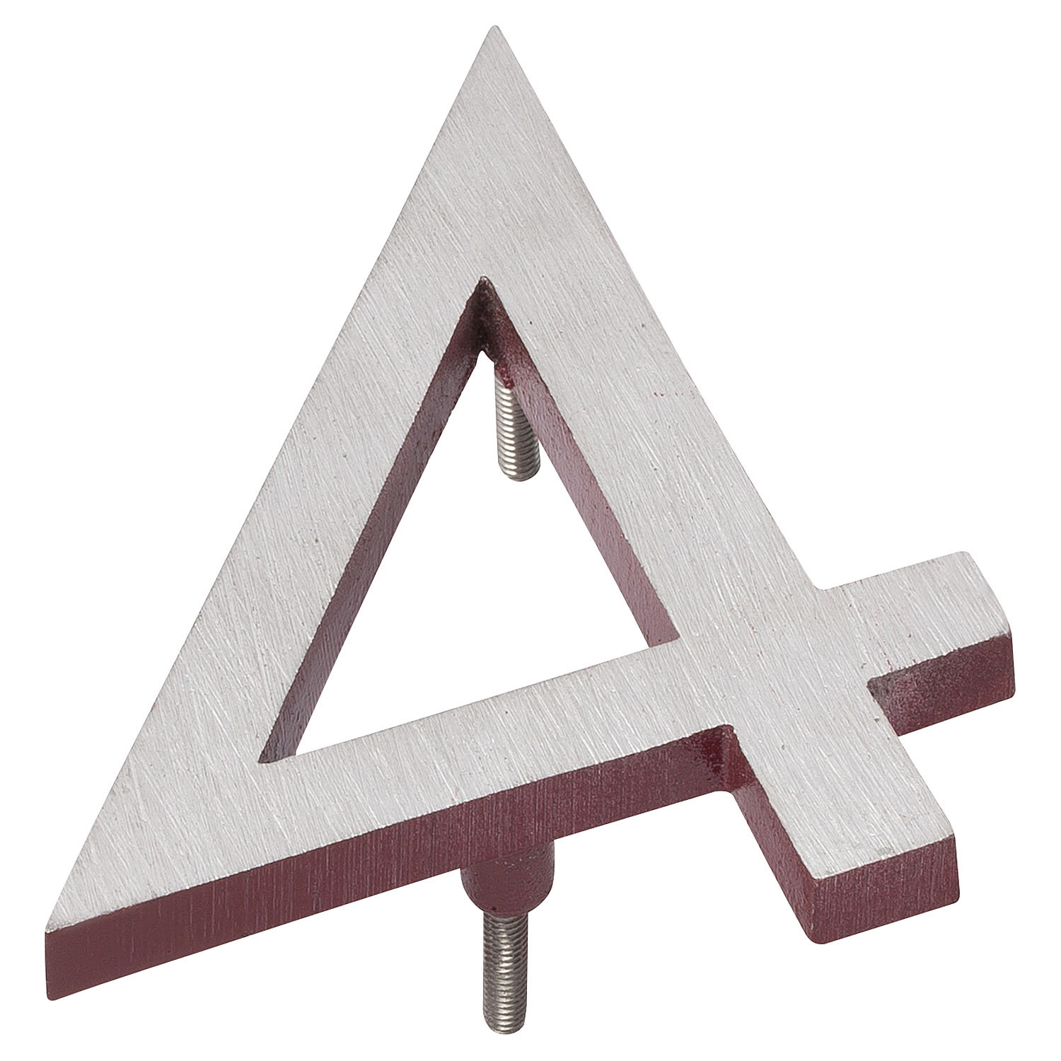 12 Satin Nickel Brick Red Two Tone Aluminum Floating Or Flat Modern House Numbers 0 9 Montague Metal Products