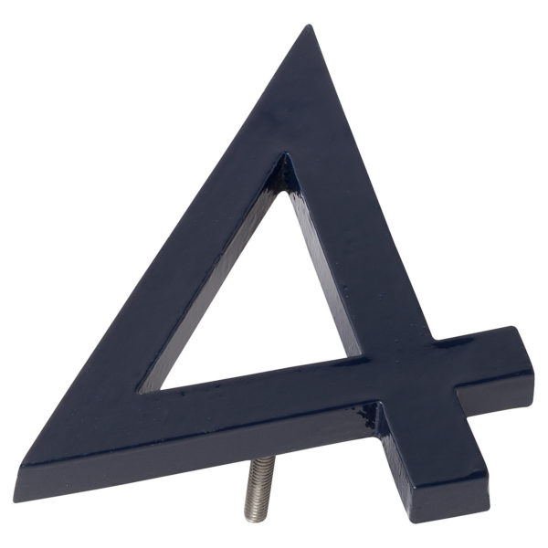 "12"" Navy Aluminum floating or flat Modern House Numbers 0-9"